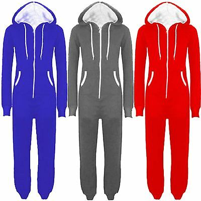 Plus Size Onesies For Men (New Womens Mens Unisex Hooded Zip Onesie Playsuit All In One Jumpsuit)
