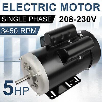 Electric Motor 5 Hp 56 Frame 3450 Rpm Single Phase 60 Hz 208-230 Volt Tefc