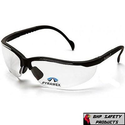Pyramex V2 Venture Ii Reader Safety Glasses Clear Bifocal 1.50 Lens 1 Pair