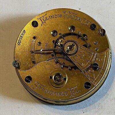 1886 18S ILLINOIS GRADE: 2 11J KEY WIND POCKET WATCH MOVEMENT (B49)