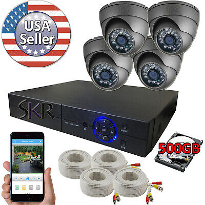 Sikker 4 channel DVR 4MP security Dome camera system 1080P