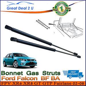 2PCS FORD FALCON BONNET GAS STRUTS BA BF 2002-2008 FPV XR6 XR8 GT FAIRLANE LIFT