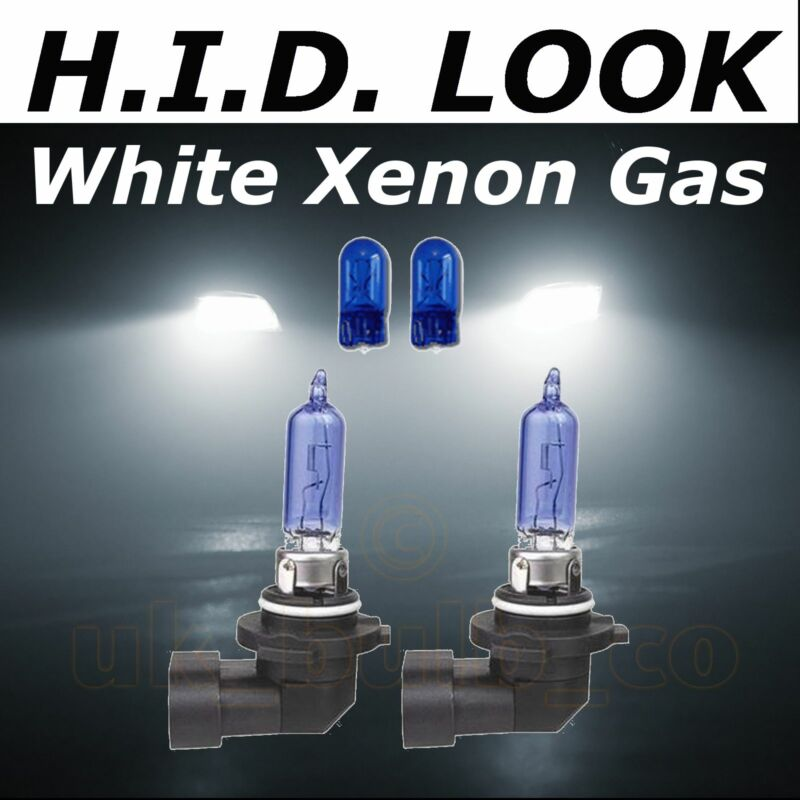 HB3 9005 501 65w White Xenon HID Look Headlight High Main Beam Bulbs E Marked