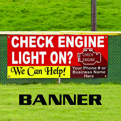 Check Engine Light On Auto Workshop Customized Indoor Outdoor Vinyl Banner Sign