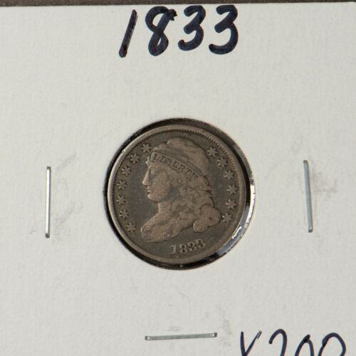 1833 CAPPED BUST 10C Silver DIME ** FINE ORIGINAL COIN Lot#X200