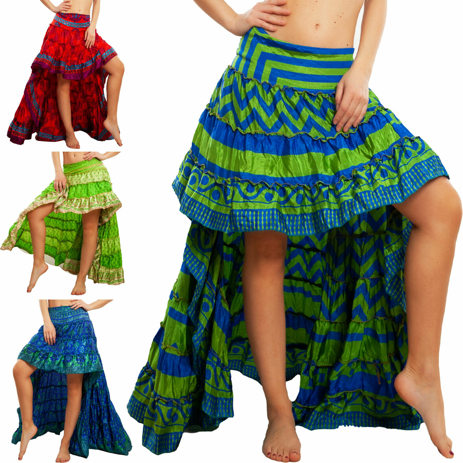 27,90 € per Gonna Donna Asimmetrica Ibiza Fantasia Indiana Gipsy Boho Chic Toocool Rk-101 su eBay.it