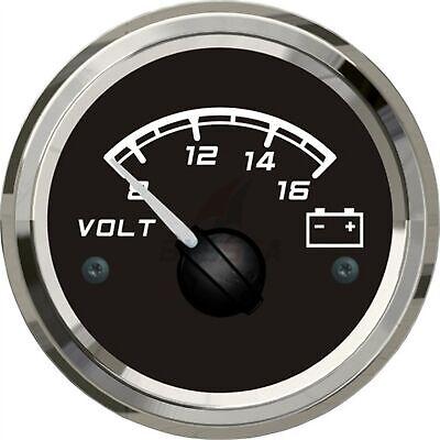 KUS Voltage Gauge WEMA Boat Marine Car RV Battery Voltmeter 8-16V 52mm