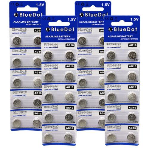 40 Pk AG10 LR1130 LR54 D389 389 390 189 L1131 Alkaline Button Cell Battery ~ New