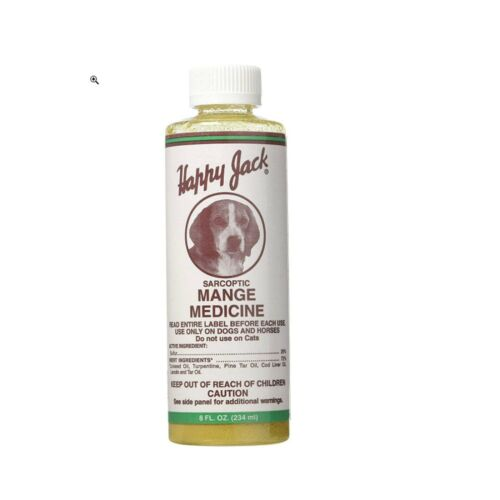 Happy Jack Sarcoptic Mange Medicine for Dogs & Horses 8 oz.