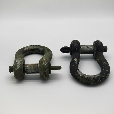 HEADED LOT OF 5 MILITARY SURPLUS STRAIGHT SHACKLE PIN
