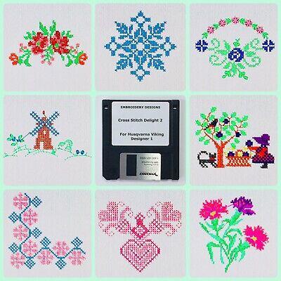 Cross Stitch Delight #2 Embroidery Designs Disk For Husqvarna Viking Designer 1