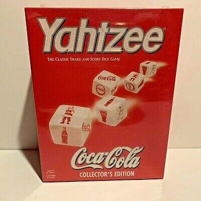 2002 USAopoly YAHTZEE COCA-COLA COLLECTOR'S EDITION HASBRO UNOPENED