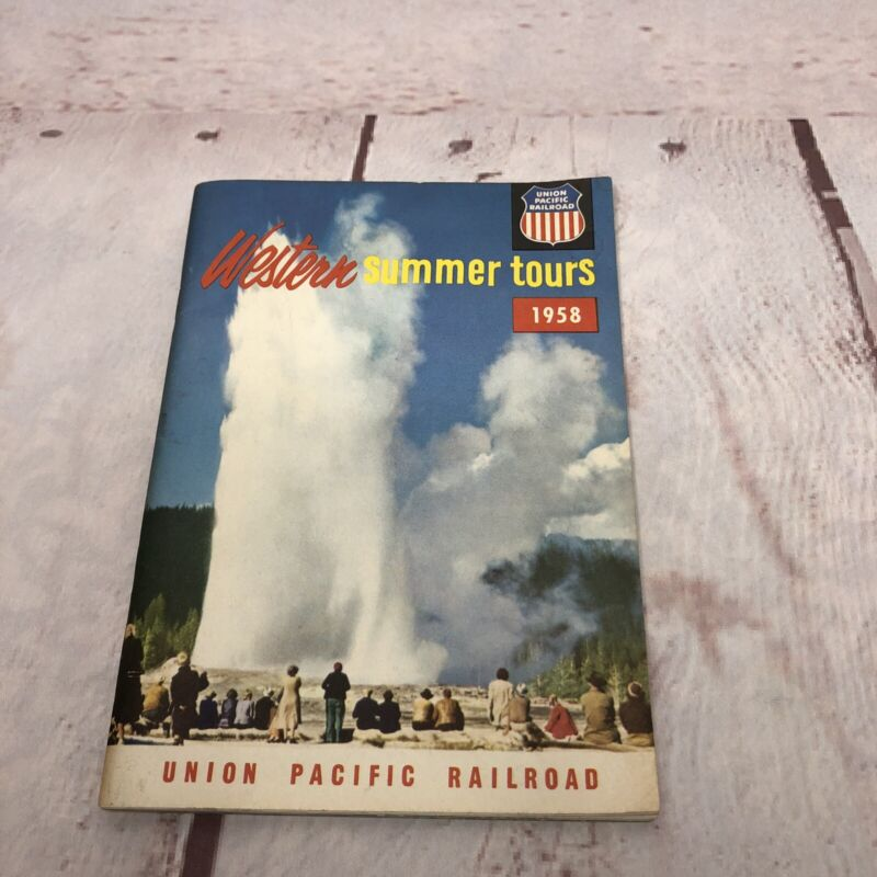 Vintage 1958 Western Summer Tours Union Pacific Railroad Travel