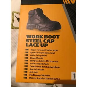 Work zone work boots- black sz12