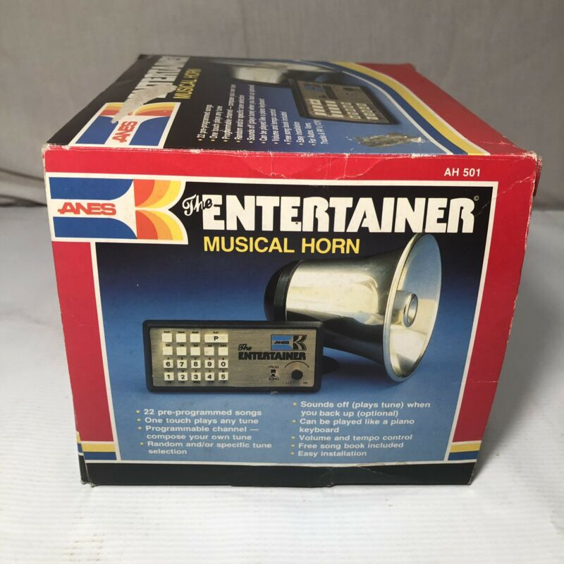 Vintage Anes The Entertainer Musical Horn For Automobiles Programmable Car Tunes