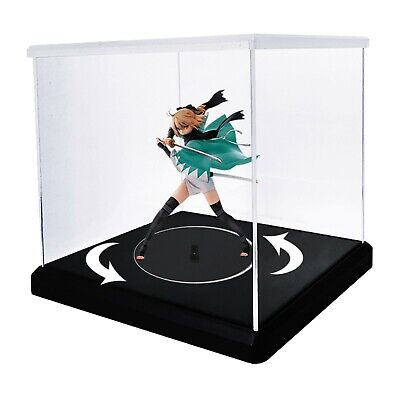 Rotating Clear Acrylic Display Case For Collectibles