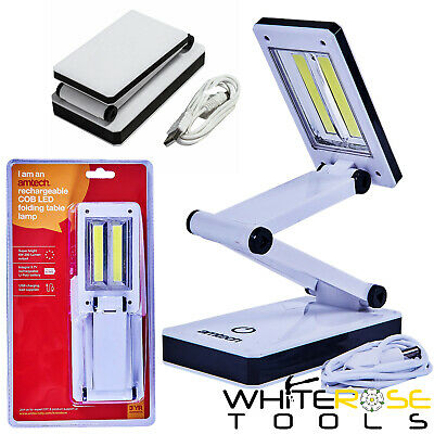 Amtech Recargable Lámpara USB Cob LED Mesa Plegable Trabajo Estudio Lectura