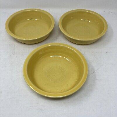 Lot Of 3 Yellow Fiestaware 6 7/8
