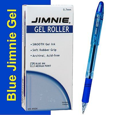 Box Of 12 Zebra Jimnie Gel Rollerball Pens 44120 0.7mm Medium Pt. Blue Ink