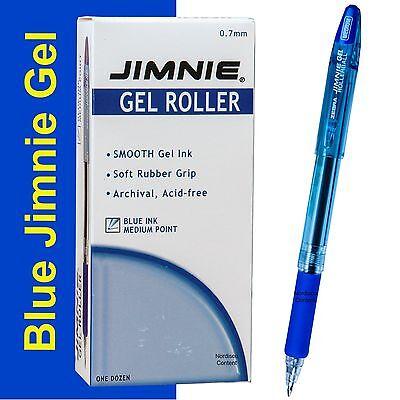 - Box Of 12, Zebra Jimnie Gel Rollerball Pens 44120, 0.7mm Medium Pt., Blue Ink