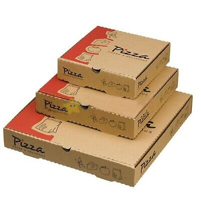 25 x 7 inch PRINTED High Quality Strong Takeaway Fast Food Parcel Pizza Boxes