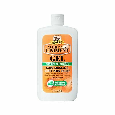 Veterinary Liniment Gel 12 oz. Spearmint Analgesic Sore Muscle Joint Pain Relief