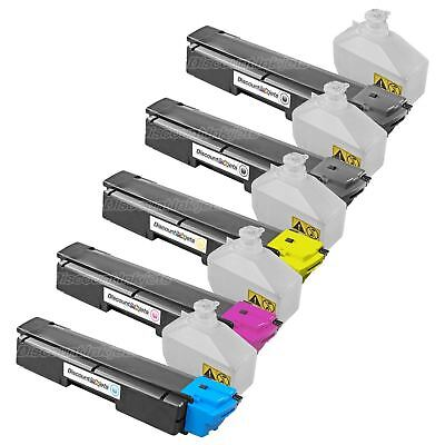 5pk Blackcolor Tk592 Tk592k Laser Toner Cartridge For Kyo...