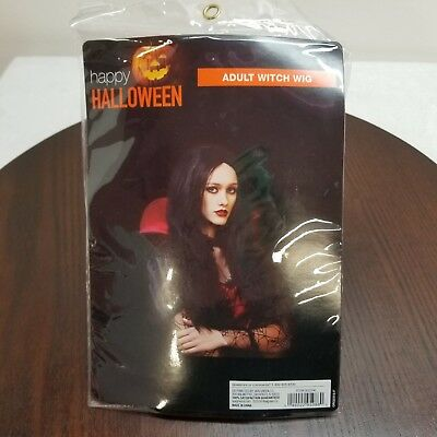 Haloween Adult Black Witch Wig Cosplay Vampire Dress - Haloween Dress