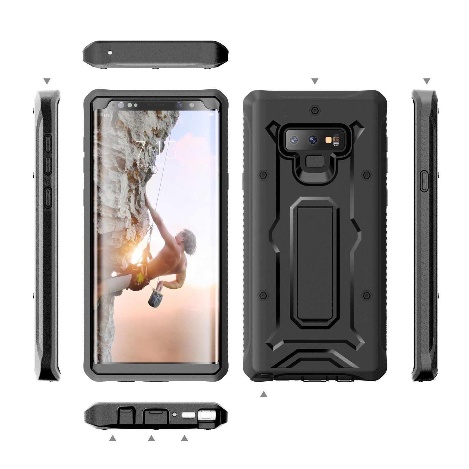 ArmadilloTek Samsung Galaxy Note 9 Rugged Case with Screen Protector Kickstand