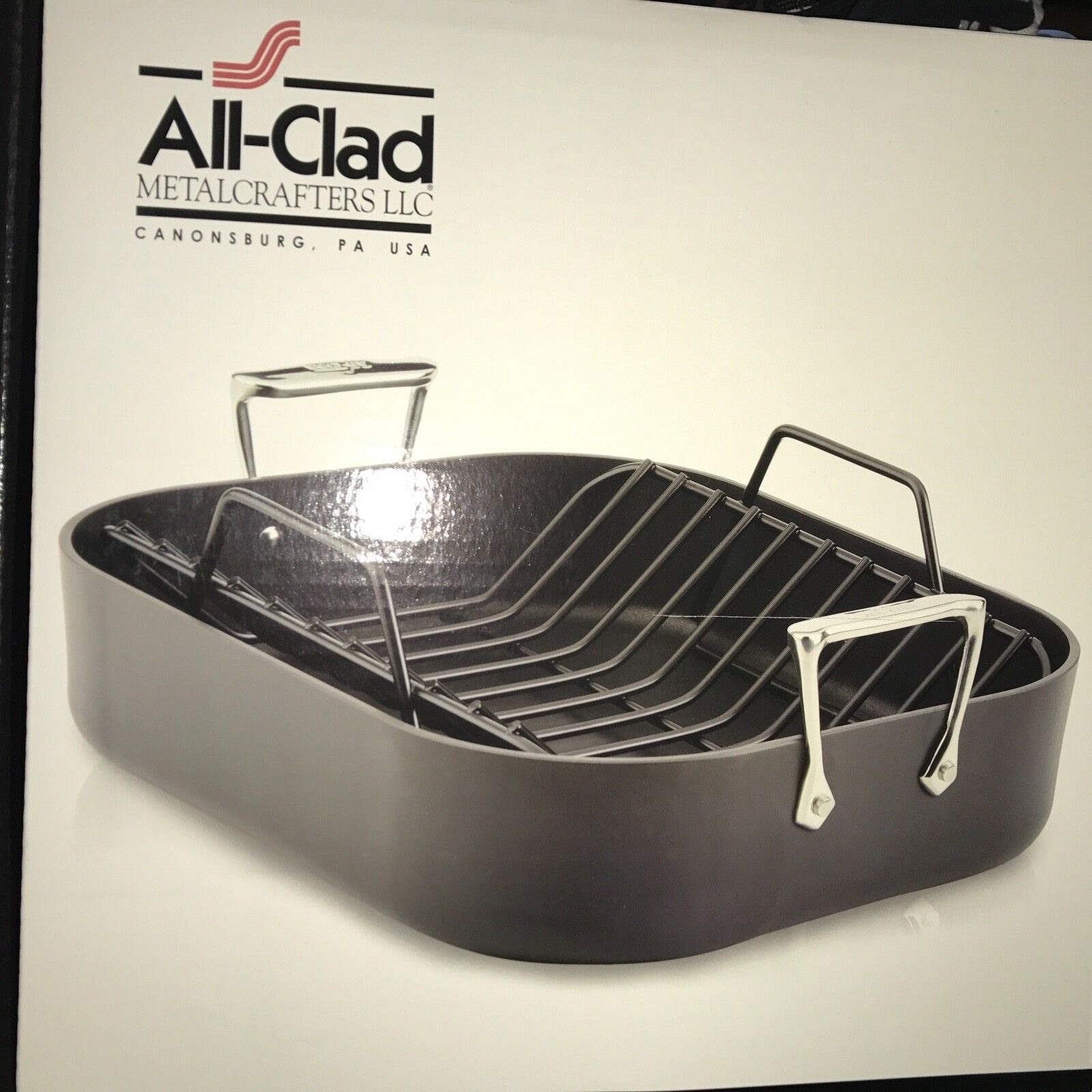 All-Clad Hard Anodized Roaster with Rack