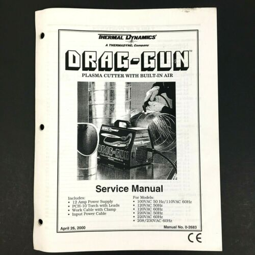 Thermal Dynamics Drag Gun Plasma Cutter Service Manual 0-2683 Drag-Gun