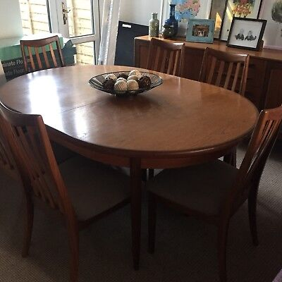 G Plan Extending Dining Table And 8 Chairs for sale  Southampton