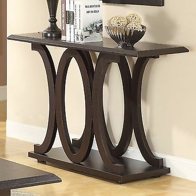 Console Table Modern Sofa Accent Entryway Decor Living Room Furniture Cappuccino