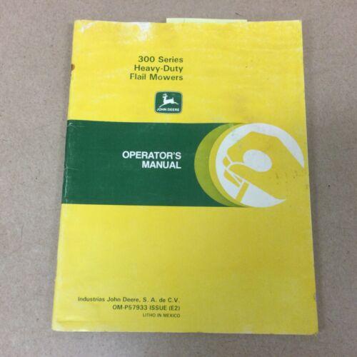 John Deere 300 SERIES HD FLAIL MOWER OPERATOR MAINTENANCE T/S MANUAL GUIDE BOOK