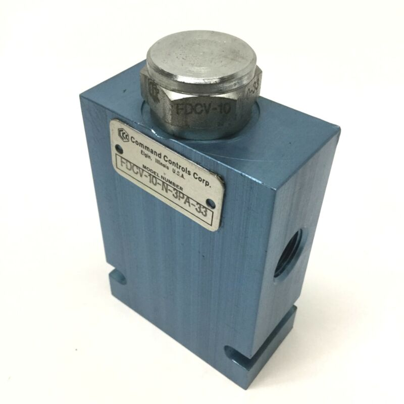 Command Controls FDCV-10-N-3PA-33 Hydraulic Flow Divider/Combiner Spool Valve