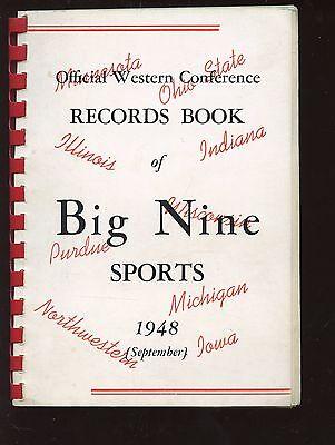 1948 Big Nine NCAA Sports Record Book -