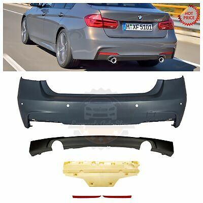 2012-2018 MTECH MSPORT M SPORT REAR BUMPER WITH PDC FOR BMW F30 335 DUAL CUTOUTS