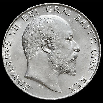 1910 Edward VII Silver Half Crown – G/EF