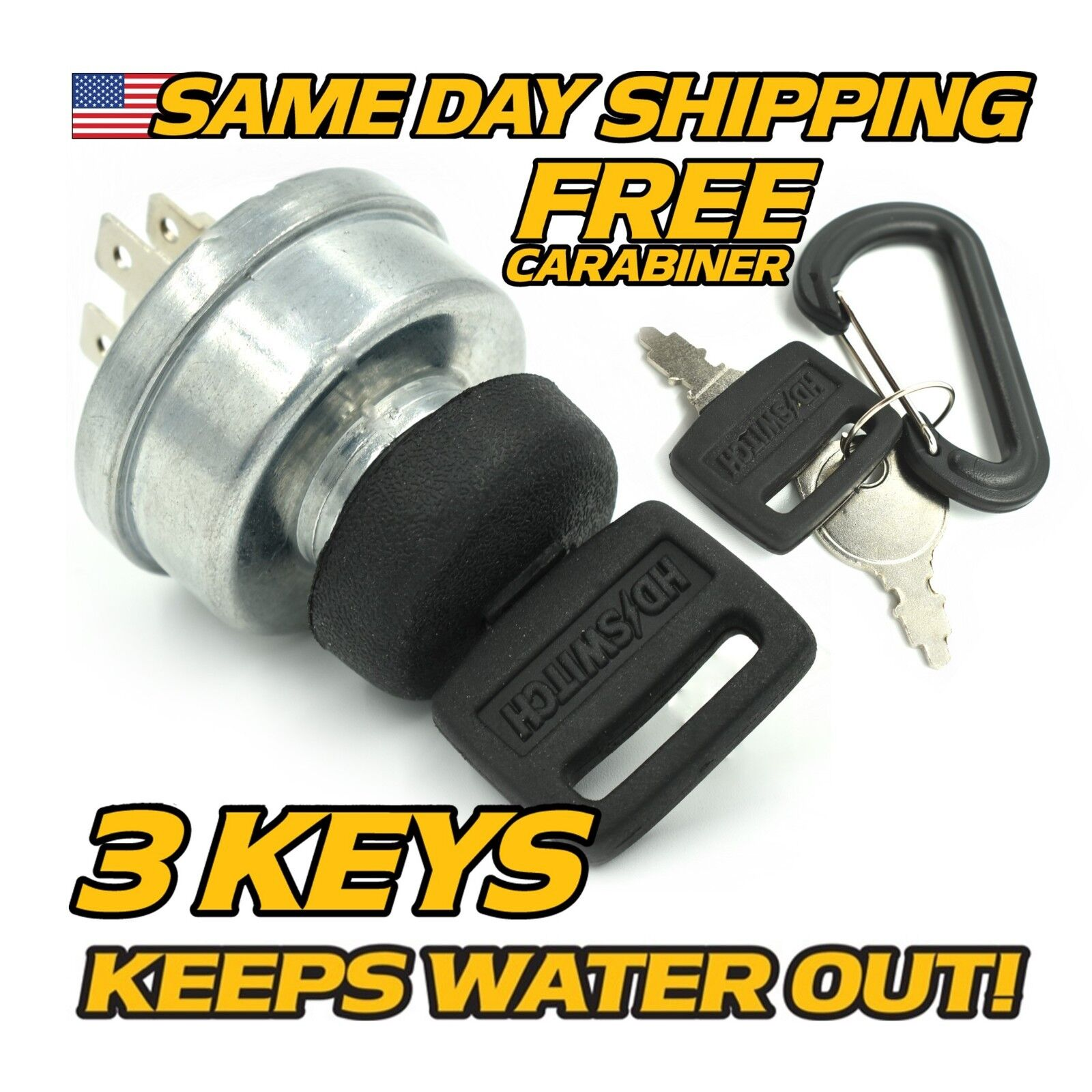 Scag 48017 Ignition Key Switch w/Protective Cover UPGRADE 3