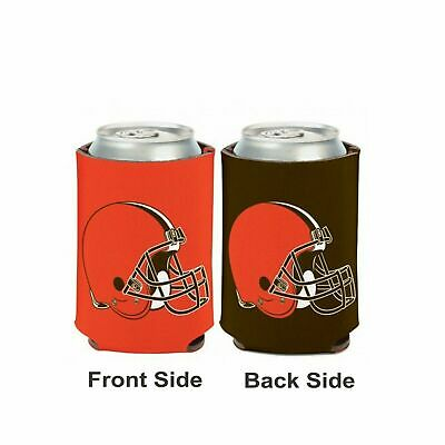 Licensed Football 2 Sided 12 oz Cleveland Browns Can Cooler Collapsible Koozie
