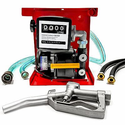 16gpm 110v Electric Fuel Pump- Diesel Oil Kerosene- Wmeter 13ft Hose Nozzle