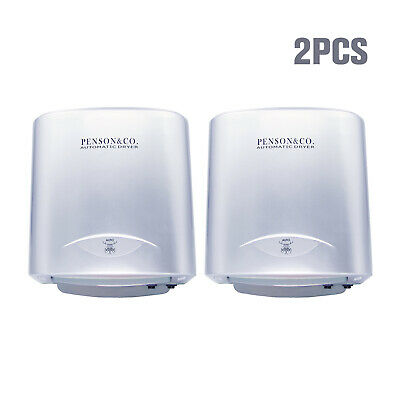 2 Pack Automatic Comercial Electric Hand Dryer High Speed Bathroom Restroom