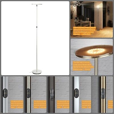 Modern Torchiere Floor Lamp (Sky LED Torchiere Super Bright Floor Lamp Office Bedroom Modern Pole Tall)