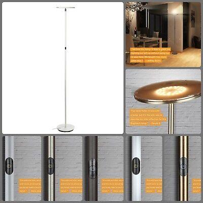 Sky LED Torchiere Super Bright Floor Lamp Office Bedroom Modern Pole Tall Light ()