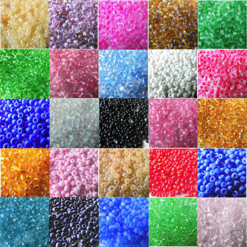 Beads - 4000 Pcs 2mm Czech Glass Seed Spacer Beads Jewelry Making DIY Finding Crafts