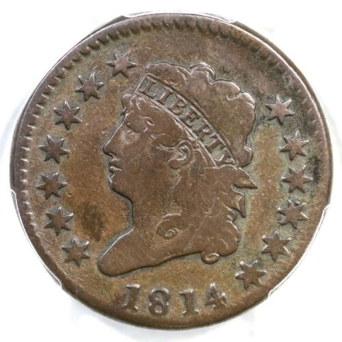 1814 S-294 PCGS VG Details Crosslet 4 Classic Head Large Cent Coin 1c