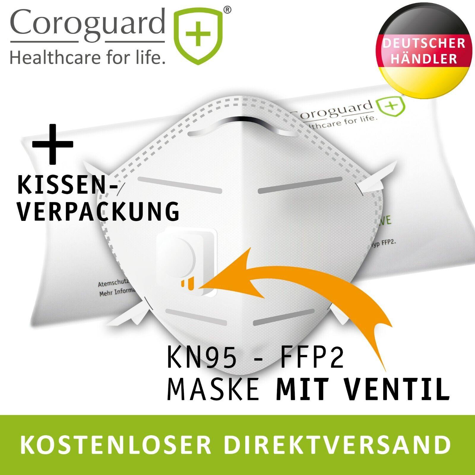 KN95 Atemschutzmaske mit Ventil, FFP2, Maske COROGUARD®-KN95-VALVE, Schutzmaske