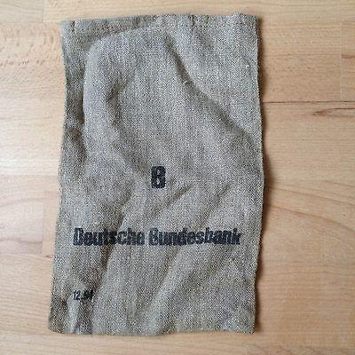 Orignal Leinen Geldsack der Deutsche Bundesbank