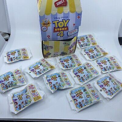 Disney Toy Story 4 Mini Figures Series 3 Sealed Blind Bags 12 Pcs W/Display Box