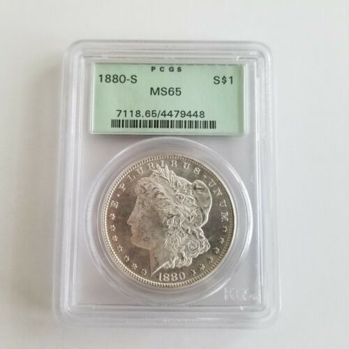 1880-S PCGS MS65 Morgan Silver Dollar OGH Old Green Holder